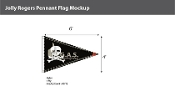 Jolly Roger Pennant Flags 4x6 foot