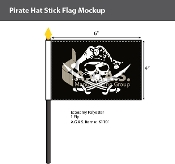 Pirate Hat Stick Flags 4x6 inch