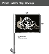 Pirate Hat Car Flags 12x16 inch Economy