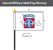 82nd Airborne Stick Flags 4x6 inch