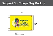 Support Our Troops Flags 12x18 inch (yellow background)