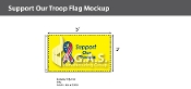 Support Our Troops Flags 3x5 foot (yellow background)
