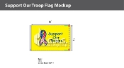 Support Our Troops Flags 4x6 foot (yellow background)