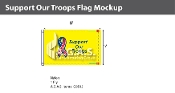 Support Our Troops Flags 5x8 foot (yellow background)