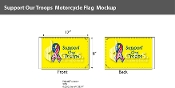 Support Our Troops Motorcycle Flags 6x9 inch (yellow background)