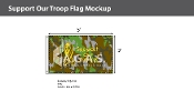 Support Our Troops Flags 3x5 foot (camouflage background)