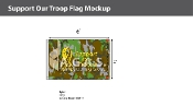 Support Our Troops Flags 4x6 foot (camouflage background)
