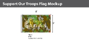 Support Our Troops Flags 5x8 foot (camouflage background)
