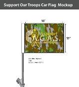 Support Our Troops Car Flags 12x16 inch Economy (camouflage)