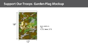 Support Our Troops Garden Flags 18x12 inch (camouflage)