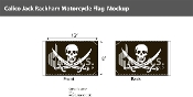 Calico Jack Rackham Motorcycle Flags 6x9 inch