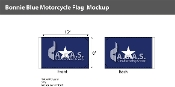 Confederate Bonnie Blue Motorcycle Flags 6x9 inch