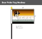 "Bear Pride Stick Flag 4""X6"""