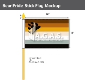 "Bear Pride Stick Flag 12""X18"""