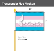 "Transgender Stick Flag 12""X18"""