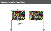 "Rainbow Hearts Car Flag 10.5""X15"""
