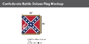 Confederate Battle Deluxe Flags 38x38 inch