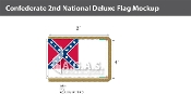 Confederate 2nd National Deluxe Flags 4x6 foot
