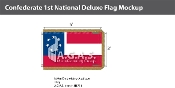 Confederate 1st National Deluxe Flags 3x5 foot