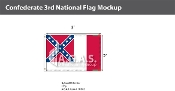 Confederate 3rd National Flags 2x3 foot