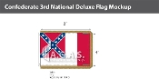 Confederate 3rd National Deluxe Flags 4x6 foot