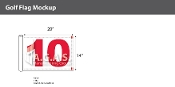 10th Hole Golf Flags 14x20 inch (White & Red)