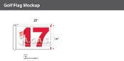 17th Hole Golf Flags 14x20 inch (White & Red)