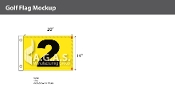 2nd Hole Golf Flags 14x20 inch (Yellow & Black)