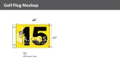 15th Hole Golf Flags 14x20 inch (Yellow & Black)