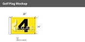 4th Hole Golf Flags 14x20 inch (Yellow & Black)