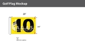 10th Hole Golf Flags 14x20 inch (Yellow & Black)