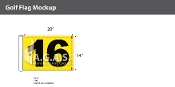 16th Hole Golf Flags 14x20 inch (Yellow & Black)