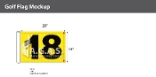 18th Hole Golf Flags 14x20 inch (Yellow & Black)