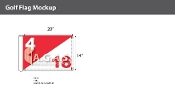 Hole 4/18  Golf Flags 14x20 inch