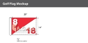 Hole 8/18  Golf Flags 14x20 inch