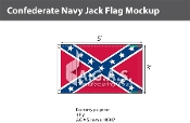 Confederate Navy Jack Flags 3x5 foot