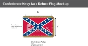 Confederate Navy Jack Deluxe Flags 5x8 foot
