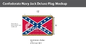 Confederate Navy Jack Deluxe Flags 6x10 foot