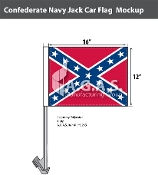 Confederate Navy Jack Car Flags 12x16 inch Economy