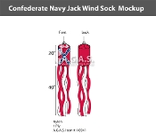 Confederate Navy Jack Windsocks 60x 5.5 inch