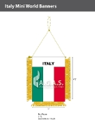 Italy Mini Banners 4.75x3.5 inch