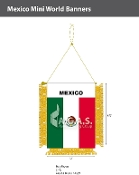 Mexico Mini Banners 4.75x3.5 inch