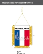 Netherlands Mini Banners 4.75x3.5 inch