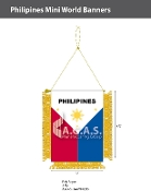 Philippines Mini Banners 4.75x3.5 inch