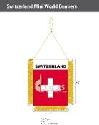Switzerland Mini Banners 4.75x3.5 inch