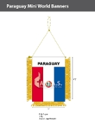 Paraguay Mini Banners 4.75x3.5 inch