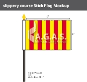 Slippery Course Stick Flags 4x6 inch