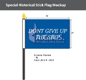 Commodore Perry Stick Flags 4x6 inch