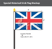British Union Stick Flags 4x6 inch
