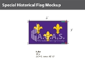 Blue Fleur de Lis Flags 3x5 foot